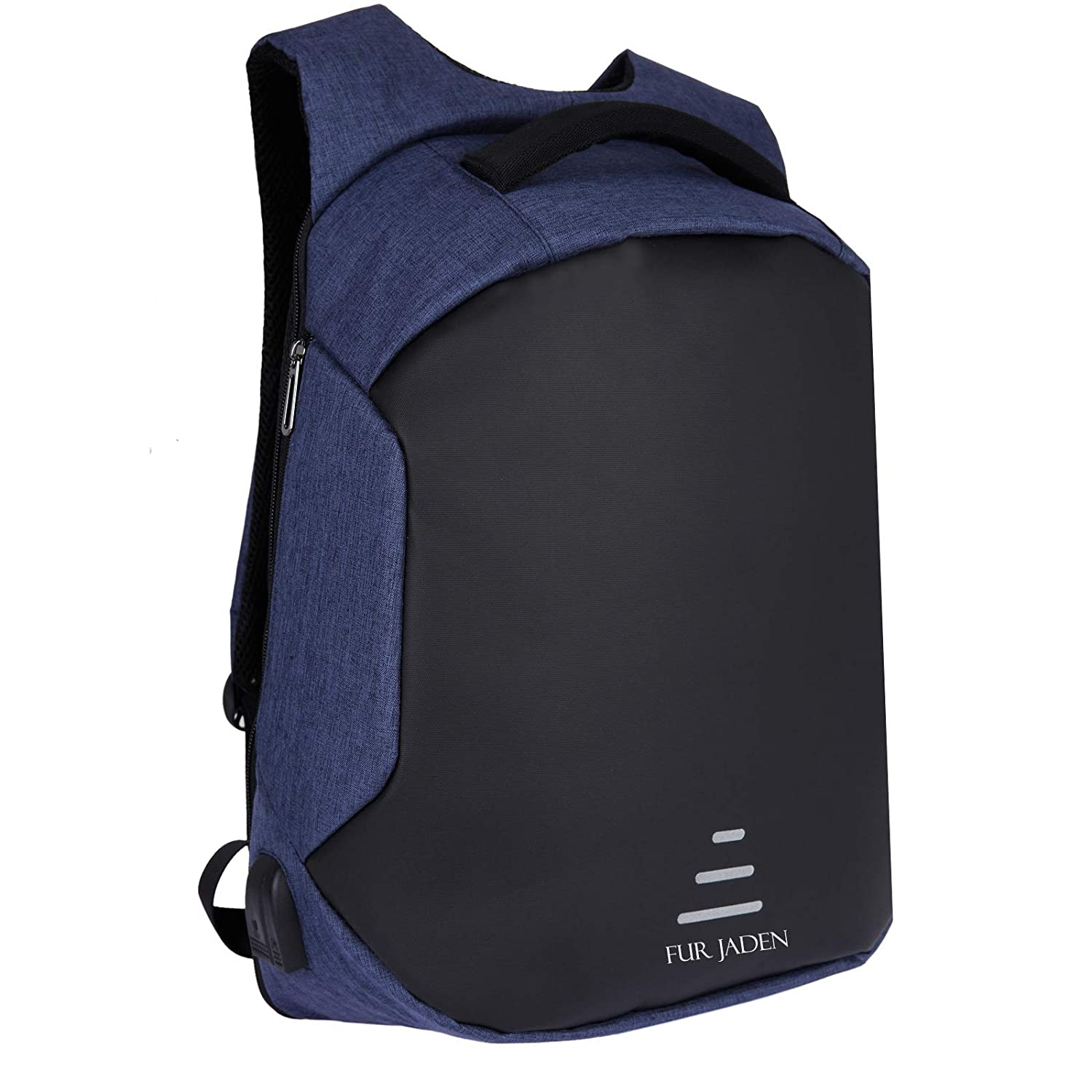FUR JADEN Navy Anti Theft Casual Backpack with USB Charging
