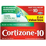 Cortizone 10 Plus Ultra Moisturizing Anti-Itch Cream with Aloe Vera and Vitamin A, Helps Relieve Itchy, Dry Skin associated w