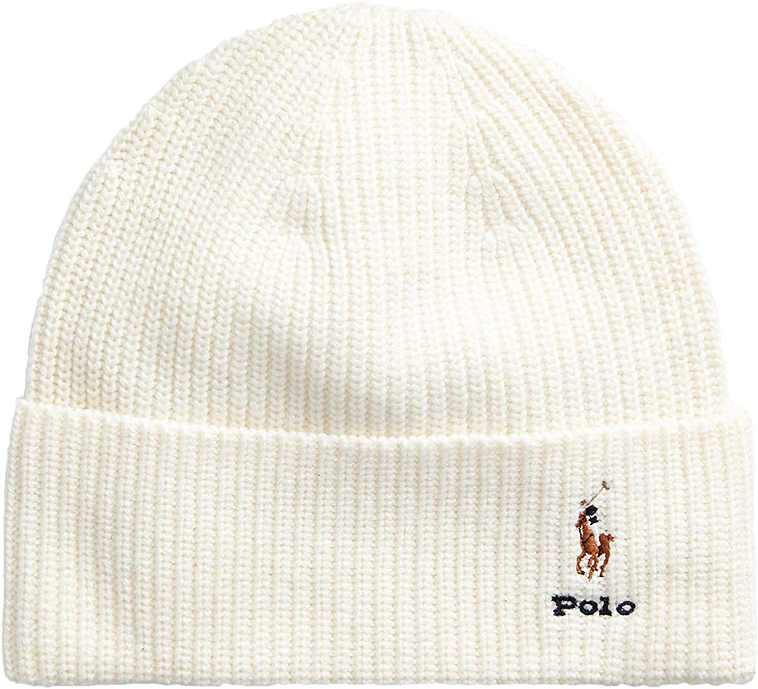 Polo Ralph Lauren – Gorro de Lana, Color Crema: Amazon.es: Ropa y ...