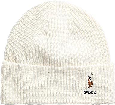 Polo Ralph Lauren – Gorro de lana, color crema: Amazon.es: Ropa y ...