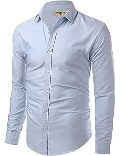 1ad74d91000 Doublju Big Tall Soild Color Dress Shirt with Long Sleeve MUSTARD ...