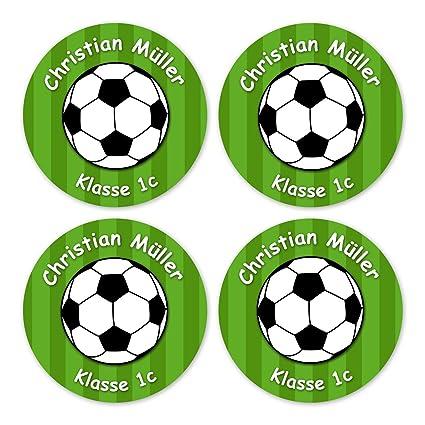 Papierdrachen 24 Individuelle Aufkleber Fur Kinder Motiv Fussball Grun Personalisierte Sticker Perfekt Zur Einschulung Geschenk Fur Die Schule