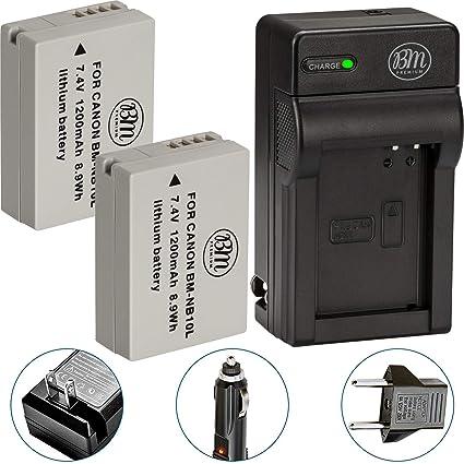 Amazon.com: Bm Premium (2 unidades) de NB-10L batería y ...