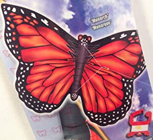 """X-Kites 27"""" Monarch Butterfly Nylon Kite with Handle, Line, QuikClip & SkyTails Included"""