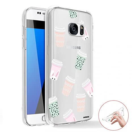 coque galaxy s6 petits pois / triangles pastel