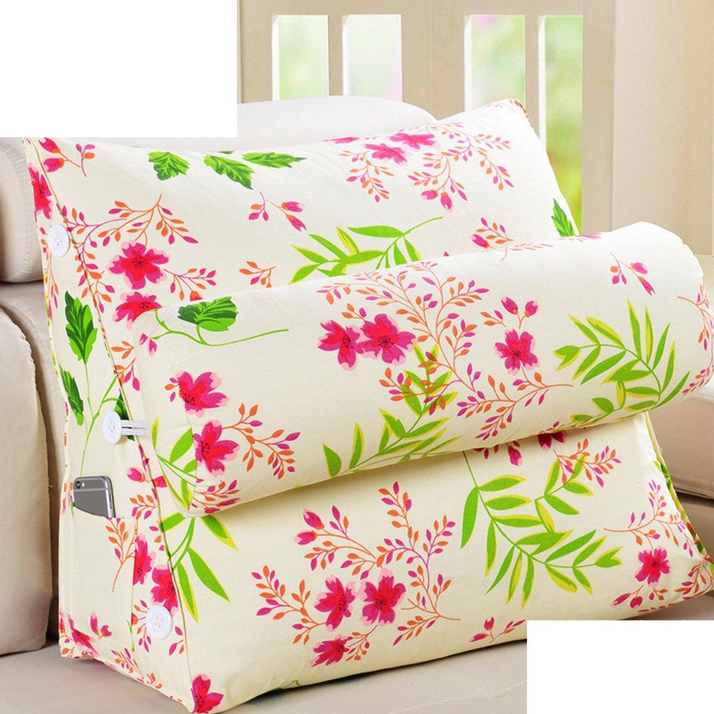 DXG&FX cushion lead pillow bedside back cushion back triangle pillow sofa office pillow floating window waist pillow and a waist waist pillow-P 45x22x50cm(18x9x20inch)