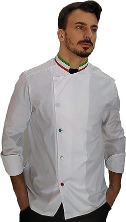 tessile astorino Ricamo Gratuito taglie da XS a XXXXL lilla e nera Made in Italy casacca chef Donna giacca cuoco