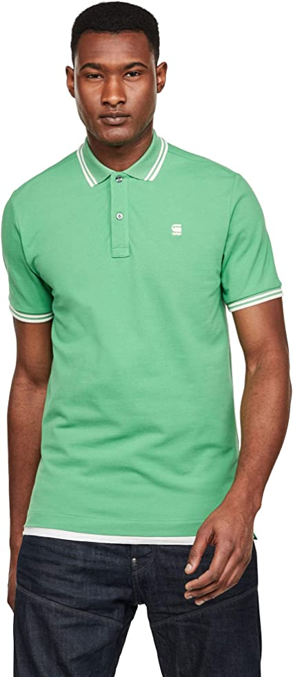 G-STAR RAW Dunda Slim Stripe Camisa Polo para Hombre: Amazon.es ...