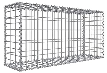 Niederberg Metall Gabion en pierre 100x50x30 MW 5x10 Cage métallique ...