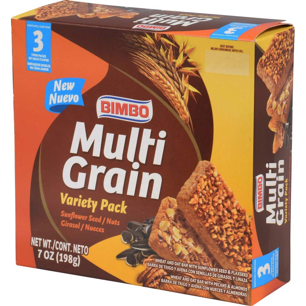 Amazon.com : Bimbo Multigrain Mix Bar, 7 oz : Nutrition Bars : Grocery & Gourmet Food