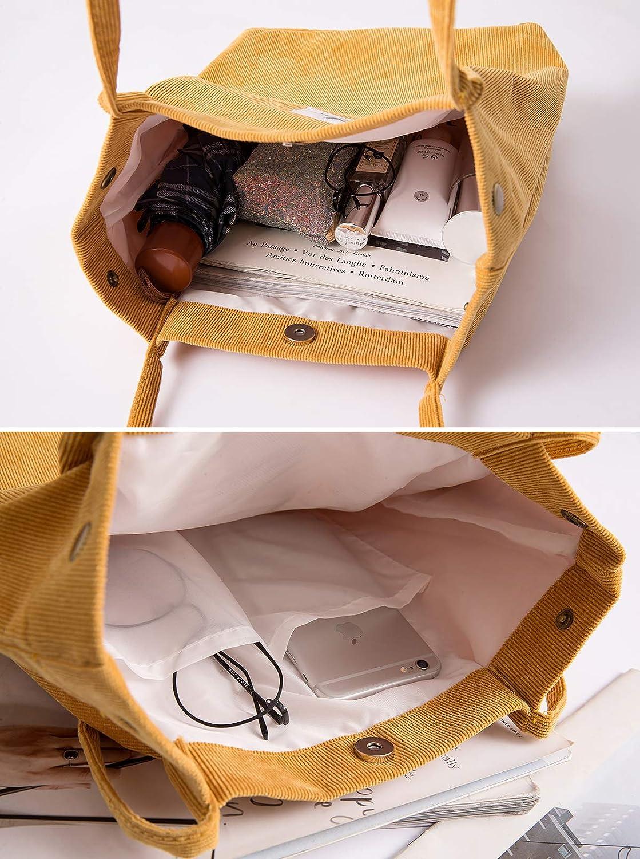 Belsmi 14 Inches Corduroy Totes Bag