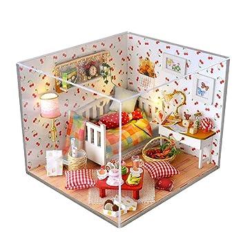 Samber Diy Maison De Poupée Miniature À Construire Jeux