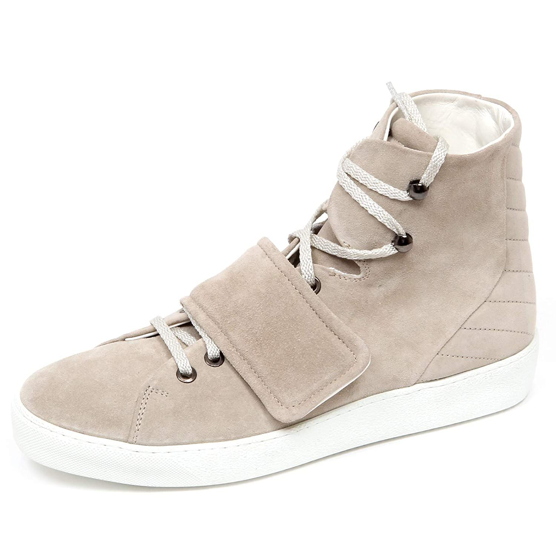 Moncler F1216 Sneaker Uomo Beige Scarpe Suede Shoe Man [40
