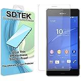 SDTEK Sony Xperia Z3 Verre Trempé Protecteur d'écran Protection Résistant aux éraflures Glass Screen Protector Vitre Tempered