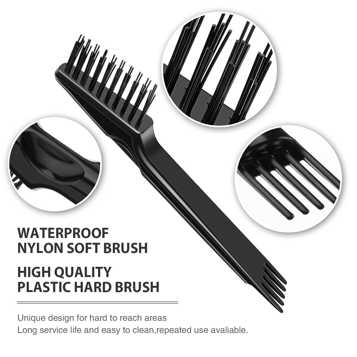 NEW 629268 Paint Brush Cleaning Comb 175mm 7 Easy To Clean Corrosion Resist GIF
