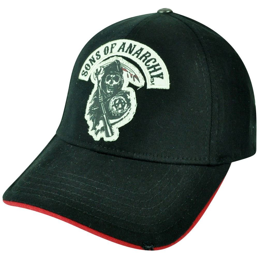 1453560eed6 Sons of Anarchy Flex Fit Medium Large TV Show Outlaws Reaper Skulls Hat Cap   Amazon.co.uk  Clothing
