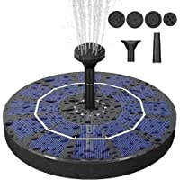 Bird Bath Solar Fountain with 2.5W Pump, Floating Solar Powered Water Bubbler Pump kit for Garden, Birdbath, Pond…