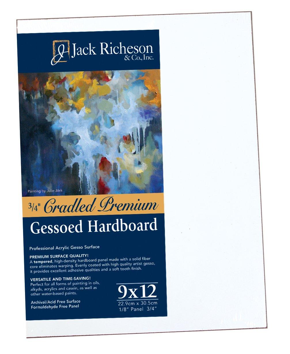 Jack Richeson 3/4-Inch Premium Tempered Gessoed Hardboard Panel, 9-Inch by 12-Inch by Jack Richeson