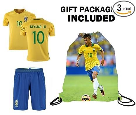 Fan Kitbag Neymar Soccer Jersey 2018 World Cup Youth  10 Brazil Home Neymar  Jr Soccer ff18a1f9b