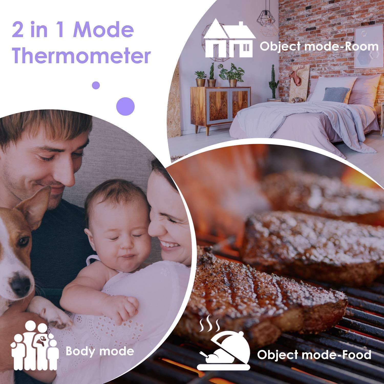 Termometro Infrarrojos m/édico sin contacto IDOIT Term/ómetro de frente infrarrojo laser precisa digital y r/ápida para adultos ni/ños beb/é y hogar