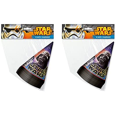 Disney Star Wars Party Cone Hats for 16 Guests: Toys & Games