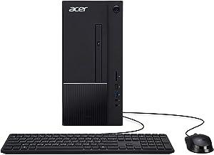 Acer Aspire TC-875-UR13 Desktop, 10th Gen Intel Core i5-10400 6-Core Processor, 8GB 2666MHz DDR4, 512GB NVMe M.2 SSD, 8X DVD, 802.11ax WiFi 6, USB 3.2 Type C, Windows 10 Home