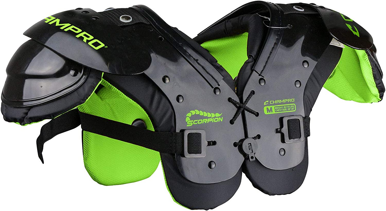 CHAMPRO Scorpion Youth Football Shoulder Pad, Colors Vary : Sports & Outdoors
