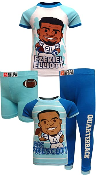 cc5fd55ac01 Amazon.com: Komar Kids Boys' Dallas Cowboys Ezekiel Elliott and Dak  Prescott Pajamas: Clothing