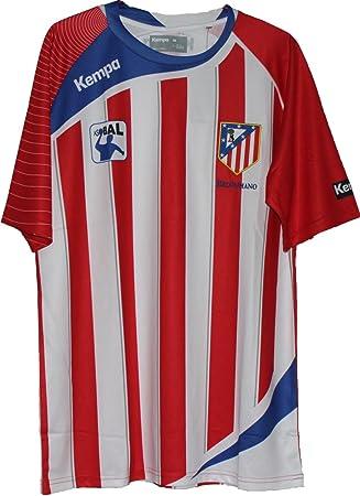 Camiseta de balonmano Kempa Athletico Madrid Blau Rot Weiß Talla:large: Amazon.es: Deportes y aire libre