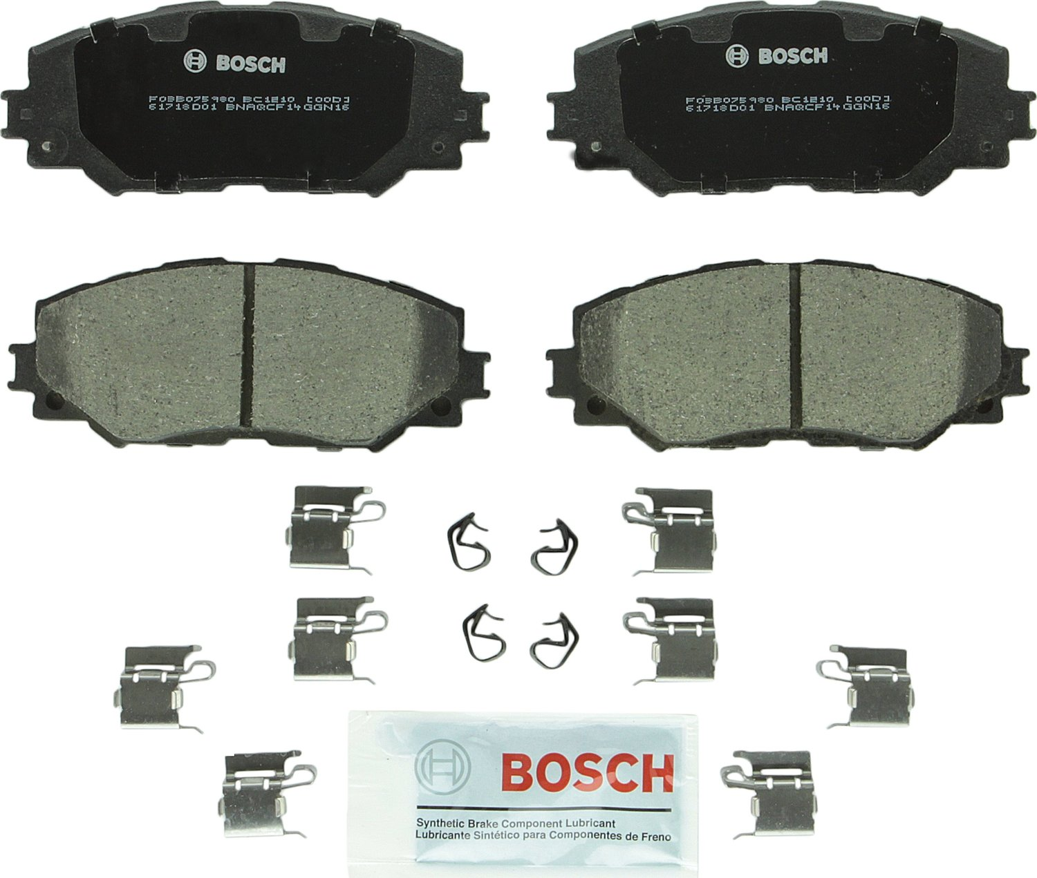 ACDelco 17D1210CH Professional Ceramic Front Disc Brake Pad Set