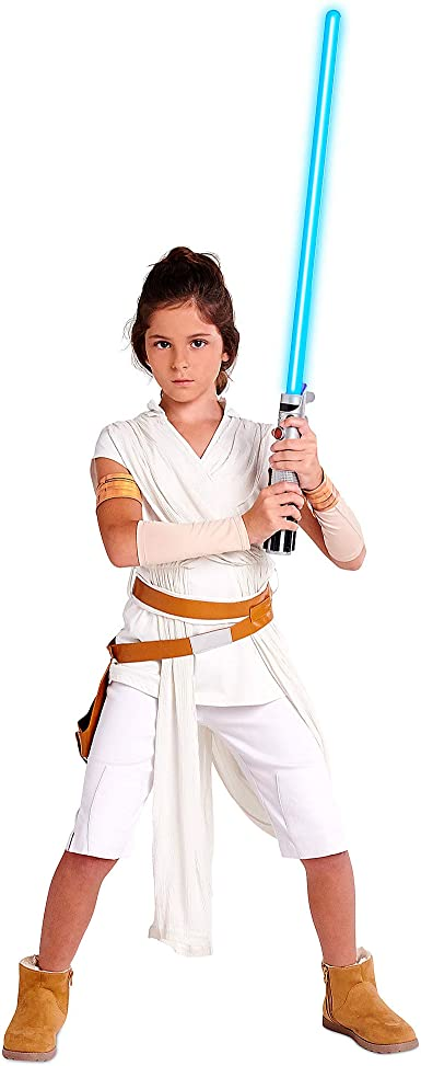 Amazon Com Star Wars Rey Costume For Girls The Rise Of Skywalker Multi Clothing