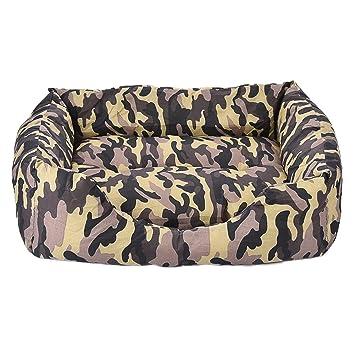 Favourall Cama para perros o gatos, extraíble y lavable, con cremallera, para colocar