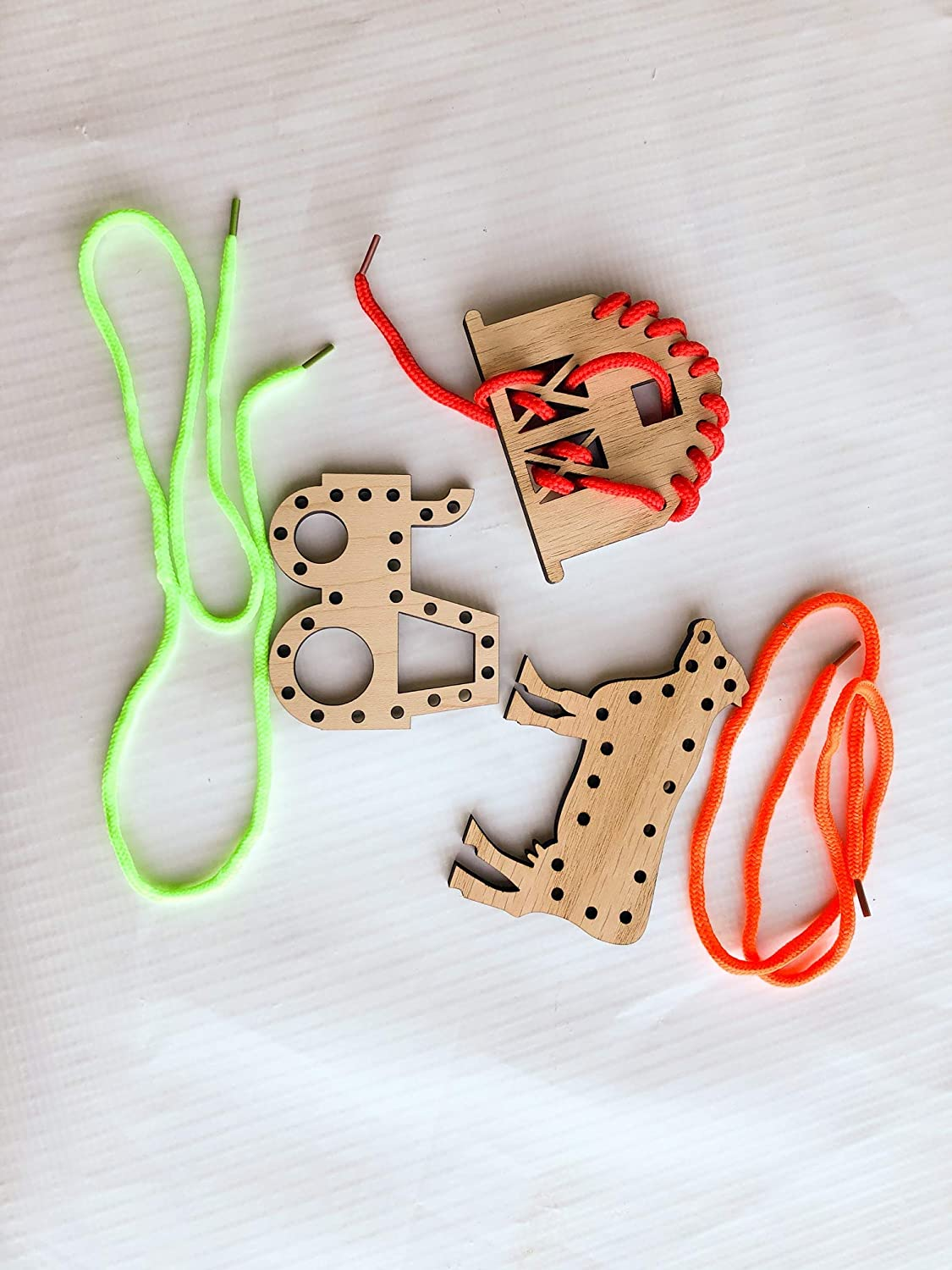 Christmas Gift for Kids Farming Wooden Lacing Toy Set