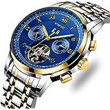 LIGE Hombre Relojes Mecánicos Automáticos Moda Acero Inoxidable Impermeables Reloj
