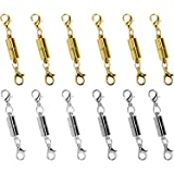 I-MART 10 Pcs Gold Color and Silver Color Tone Magnetic Lobster Clasp for Jewelry Necklace Bracelet