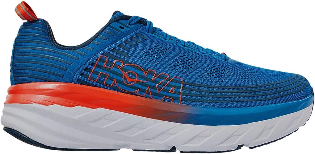hoka Bondi 6 Azul Naranja 1019269IBMB: Amazon.es: Zapatos y complementos