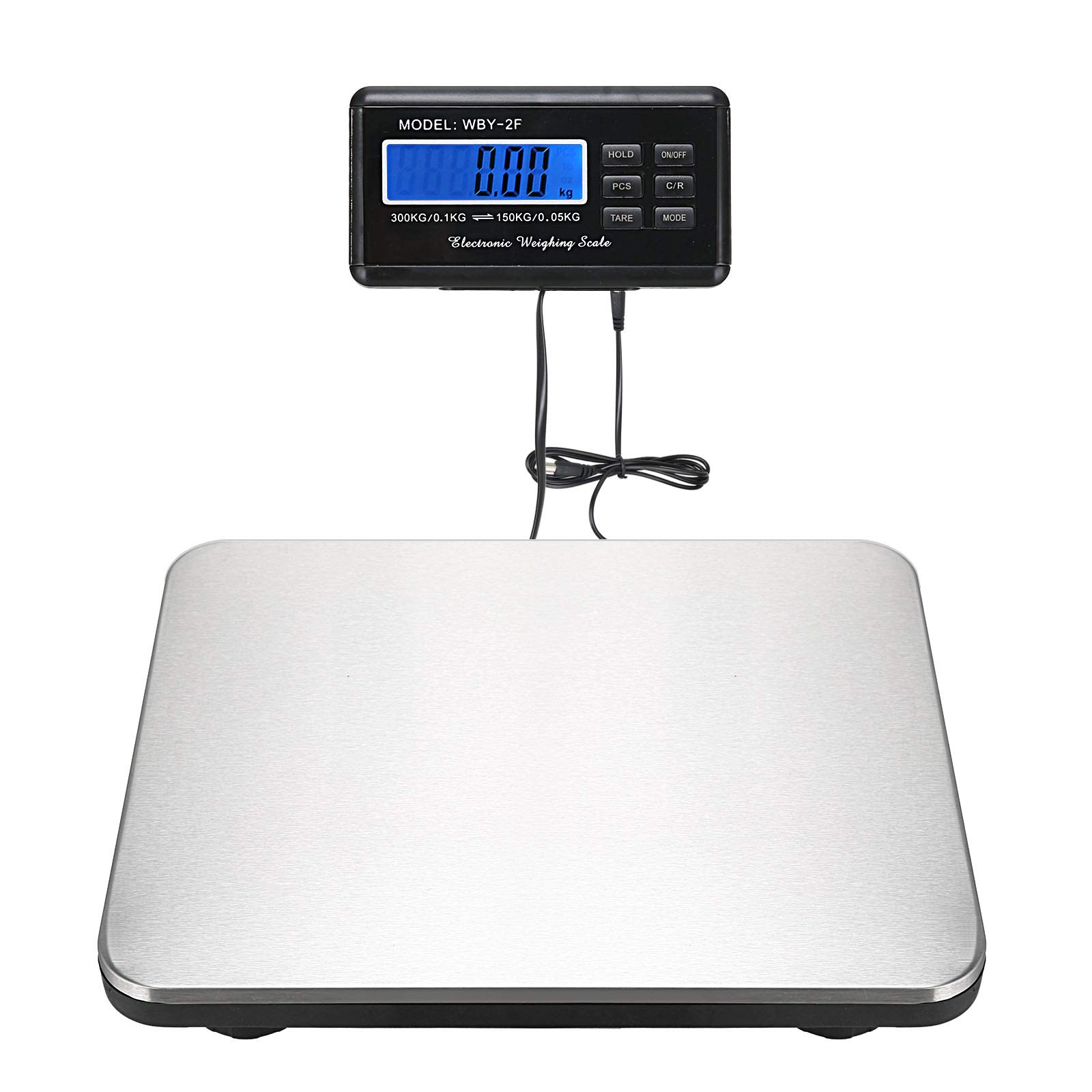 Voilamart Digital Platform Scale Shipping and Postal Scale, Heavy Duty 660 lbs Capacity, w/Waterproof Stainless Steel Large Platform, USPS Post Office Postal Scale Digital Weight Scale, Luggage Scale
