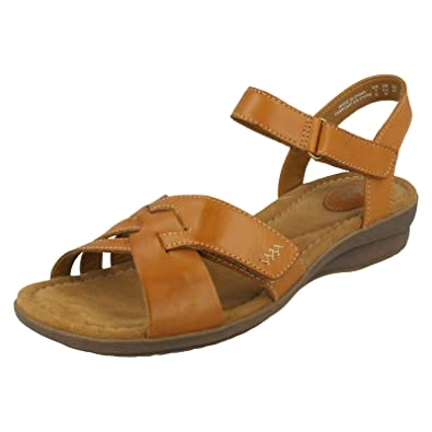 0f74856cc621 Clarks Ladies Classic Sandals Reid Laguna - Cognac Leather - UK Size 3E -  EU Size
