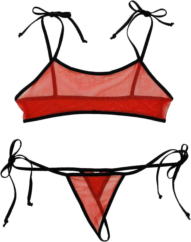 Women Micro Thong Monokini Bikini Swimwear Swimsuit Bathing Suit Nightclub US