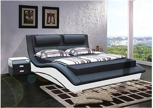 Cleveland - Cama de diseño (160 x 200 cm, sin colchón, sin ...