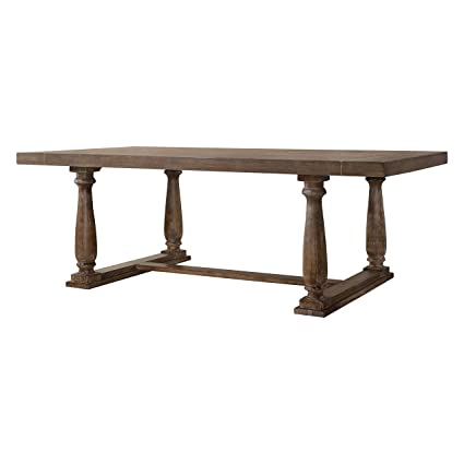 Amazon Com Homeroots Furniture Dining Table In Weathered