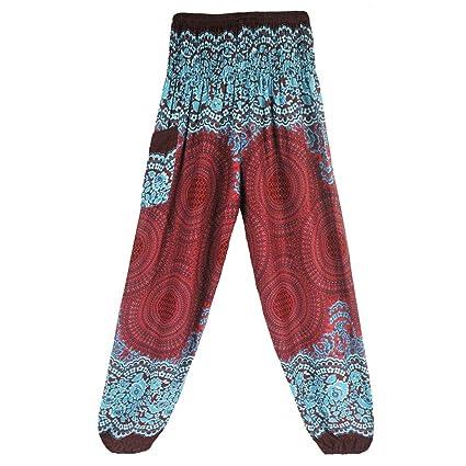 Memefood Pantalones de Yoga Sueltos Mujer Harem Boho del ...