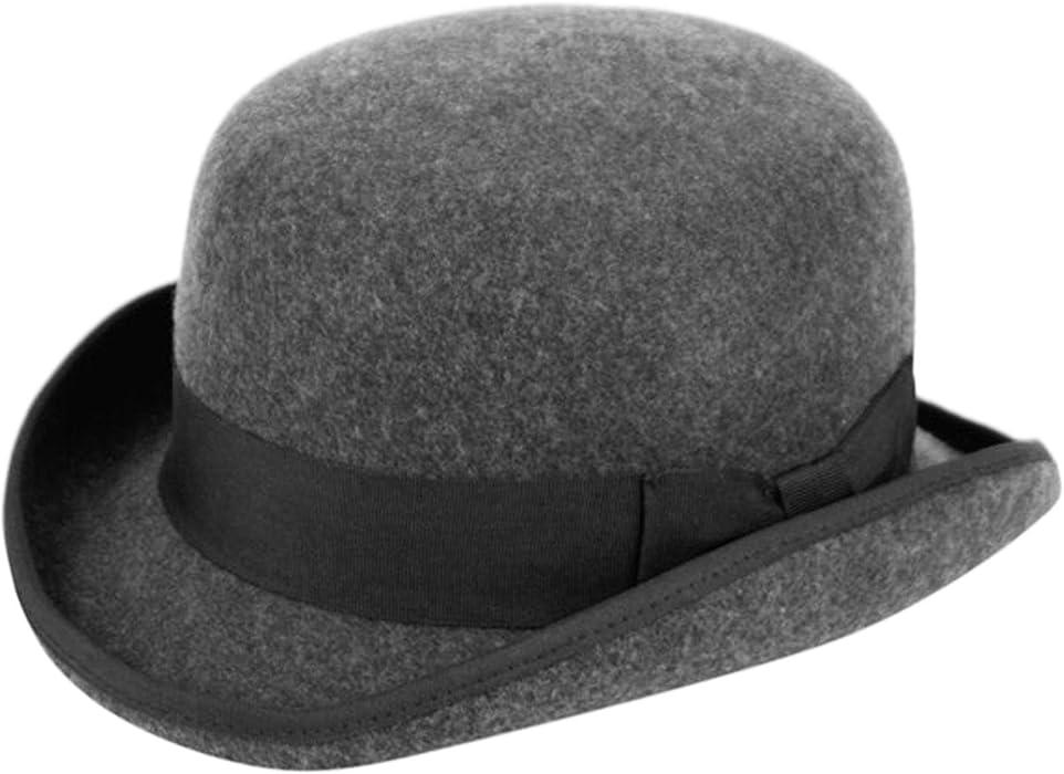 024a2056a742b0 Epoch hats Men's Wool Felt Derby Hat (M, Charcoal) at Amazon Men's ...
