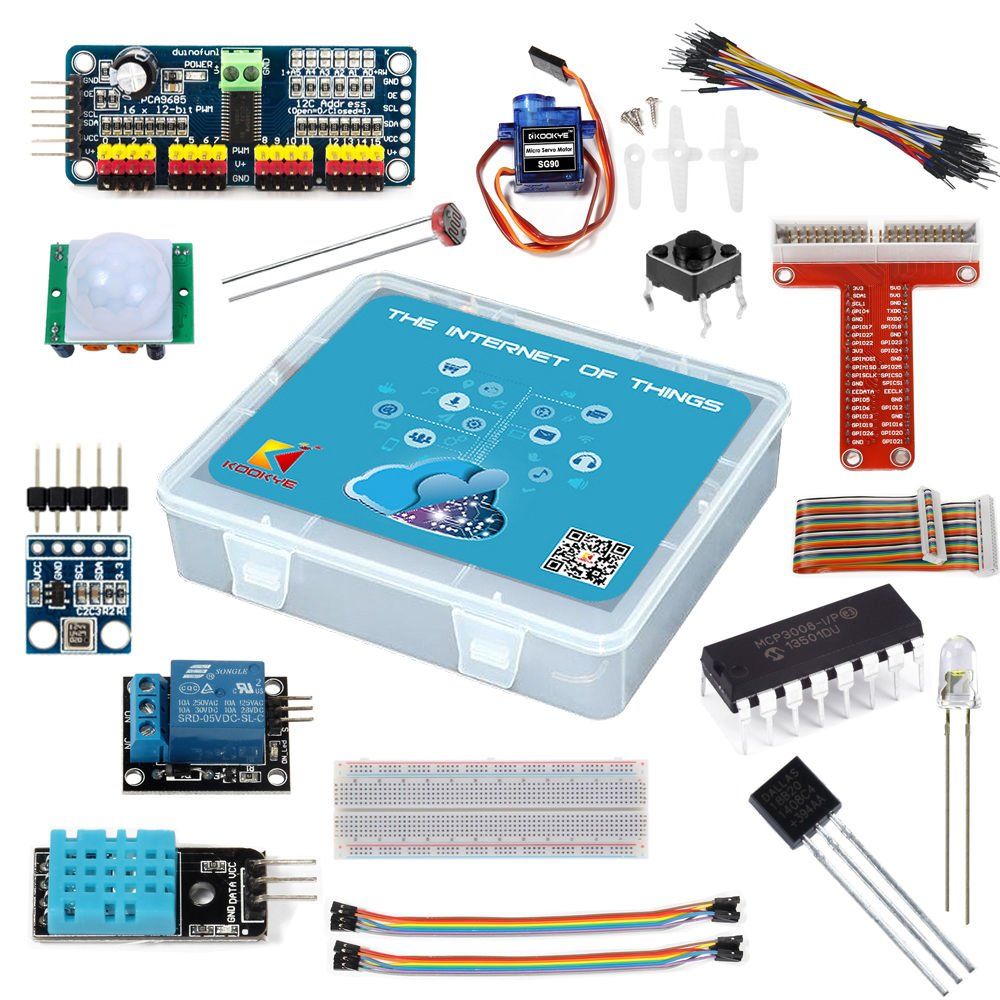 Kookye Raspberry Pi Iot Starter Kit Internet Of Things Digital Thermometer Circuit Ds18b20 Electronics Projects Circuits For 2 3 16 Items Computers Accessories