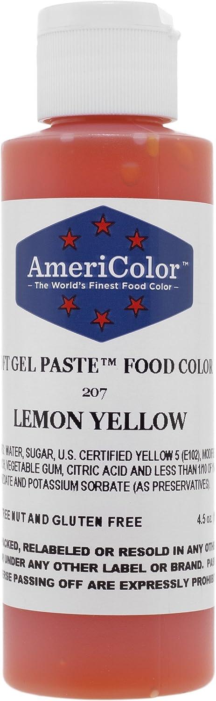 Americolor 4.5 Oz Lemon Yellow Soft Gel Paste