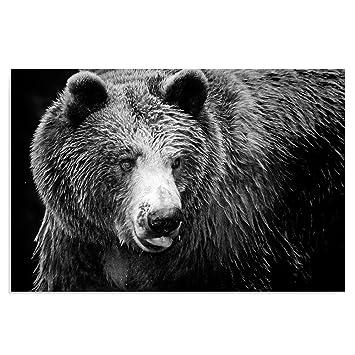 Tableau ours noir et blanc 1 71ZO%2BRmXGoL. SY355