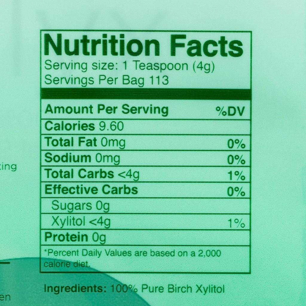 Pack of 2 Morning Pep Pure Birch Xylitol (Keto Diet Friendly) Sweetener 1 LB (Not from Corn) Non GMO - Kosher - Gluten Free - Product of USA. Total of 2 Lbs (32 OZ) by Morning Pep (Image #4)
