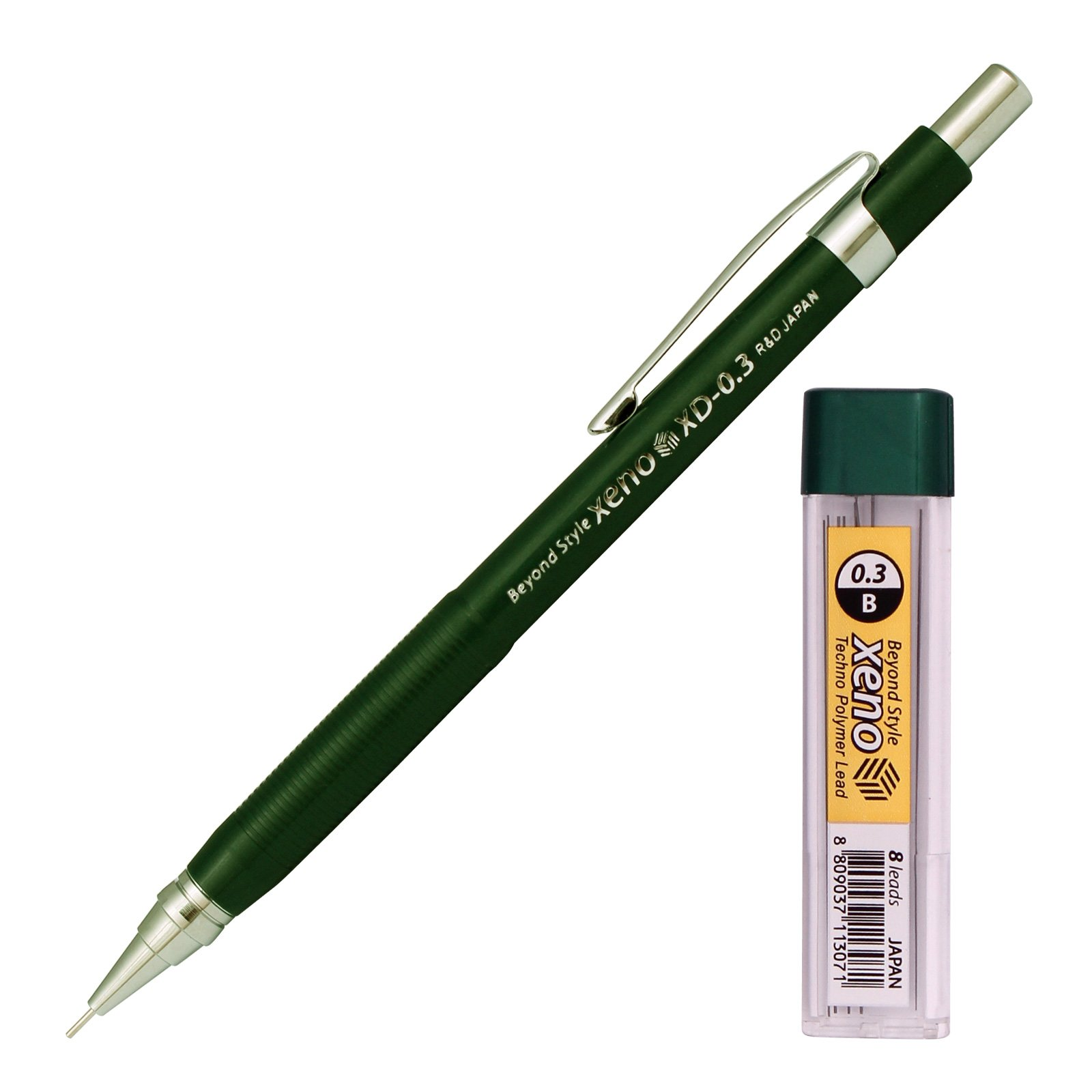 Xeno Beyond Style-Xd Mechanical Pencil for Drafting Sharp Pencils 0.3 mm /0.5 mm /0.7 mm /0.9 mm/ 1.3 mm (Pack of 5 Pencils) + Lead by Xeno (Image #7)