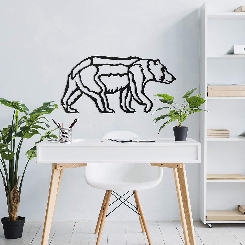 Tamengi Bear Wall Art, Metal Wall Decor, Metal Wall Art, Mama Bear Wall Art, Cabin Decor,Home Decor, Nursery Room Decor, Jungle Wall Hang,Wild Life