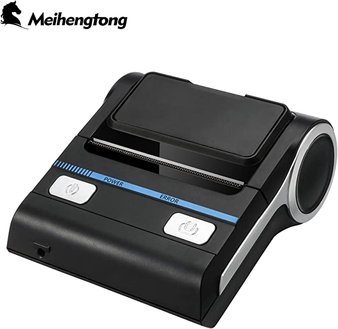 Thermal Receipt POS Small Printer 80mm Bluetooth Printer Compatible with Android/iOS/Windows System ESC/POS Print Commands Set for Office and Small ...
